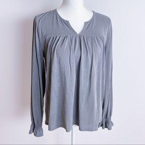 Lucky Brand Long Sleeve Top, Gray, M